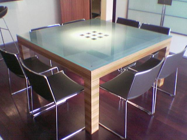 Table - Dessus de table en verre ...